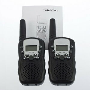 2Pc-LCD-5km-UHF-Auto-Scanning-8-Channel-2-Way-Radio-Wireless-Walkie-Talkie-T-388