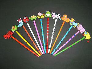 Bleistifte-12erSet-Tiere-Tier-Bleistft-Farm-und-Haustiere-21cm-Kindergeburtstag