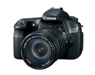 Canon EOS 60D 18.0 MP Digital Camera(Kit w/ 18-135mm Lens)+ Free Power Bank