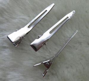 U-pick-45mm-Silver-Metal-Alligator-Prong-Hair-Clip-Craft-Wedding-Party-F108