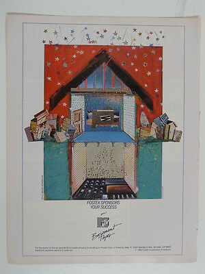 retro magazine advert 1985 FOSTEX mtv / basement tapes