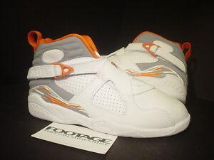2007-Kids-Nike-Air-Jordan-VIII-8-Retro-WHITE-STEALTH-GREY-ORANGE-SILVER-1-5Y-1-5