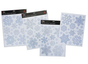 Christmas-Silver-and-Blue-Glittery-Snowflake-Window-Stickers-PM14