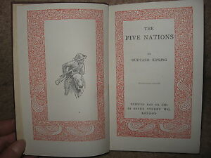 The-Five-Nations-by-Rudyard-Kipling-1945-Publisher-Methuen-Co-33rd-Edition