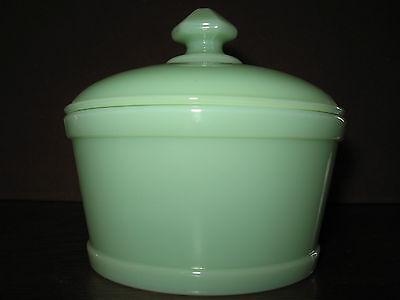 Jadeite jadite green Glass serving domed butter dish jade milk tub 1 pound round