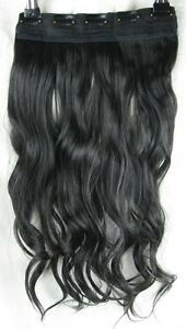 jet black 5 clips one piece wavy curly 22034 long clip in on hair extension - <span itemprop=availableAtOrFrom>Slough, United Kingdom</span> - Return in 7 days, unused Most purchases from business sellers are protected by the Consumer Contract Regulations 2013 which give you the right to cancel the purchase within 14 days after t - Slough, United Kingdom
