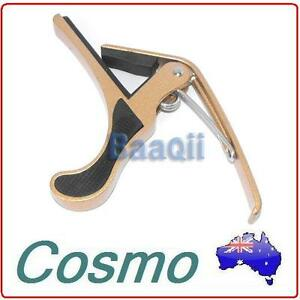 Gold-Quick-Change-Release-Folk-Acoustic-Electric-Guitar-Capo-Trigger-Key-Clamp