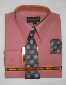 BOYS HOT PINK DRESS SHIRT WITH MATCHING TIE LONG SLEEVE Sizes 4 ...