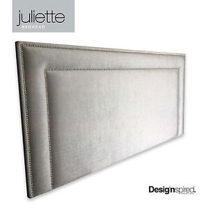 Juliette Chrome Stud Upholstered Bedhead For Queen Size