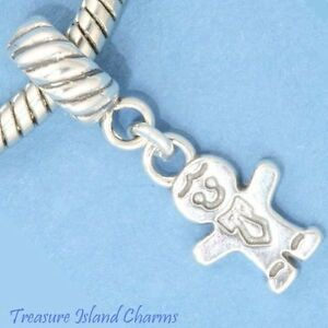 BABY-BOY-CHILD-925-Solid-Sterling-Silver-EUROPEAN-EURO-Danlge-Bead-Charm