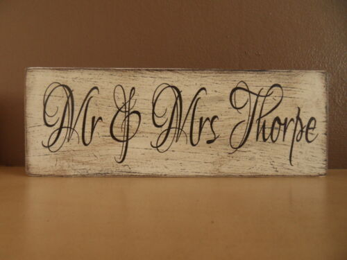 Shabby Personalised Name plaque, chic and unique
