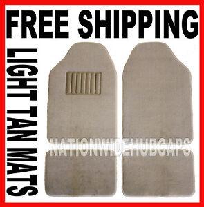 Light Tan Set Of 4 Carpet Front Amp Rear Floor Mat Mats