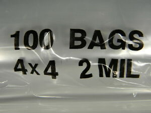 Lot-of-100-Ziplock-SEALABLE-4-034-x-4-034-Small-Plastic-BAGS