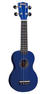 NEW-MAHALO-U30B-BLUE-SOPRANO-UKULELE-BRAND-NEW-with-GIG-BAG-REAL-INSTRUMENT