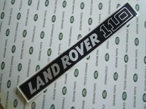 LAND ROVER DEFENDER 110 FRONT BADGE SILVER ON BLACK GENUINE LAND ROVER MUC2003