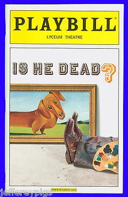 Playbill + Is He Dead + Opening Night + Norbert Leo Butz , Michael McGrath