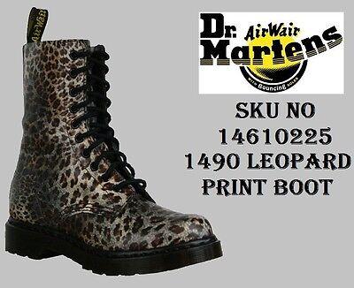 DR. MARTENS DOC. MARTENS - 1490 WOMENS BOOT 14610225 LEOPARD PRINT - 10 EYELETS