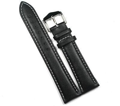 Special:High quality Cozy Sweatband Black Genuine leather Wristwatch Strap A512