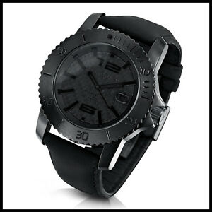 ALESSANDRO-BALDIERI-Italy-Seamonster-Carbon-Automatic-Diver-Watch-Black-PVD