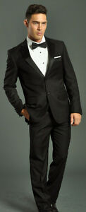 TWO-PIECE-BLACK-TUXEDO-SUIT-FELLINI-4-A-GROOM-PROM-WEDDING-FATHER-OF-THE-GROOM