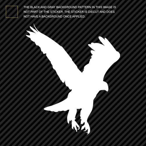 (2x) Eagle Sticker Die Cut Decal Self Adhesive Vinyl bird accipitridae #1
