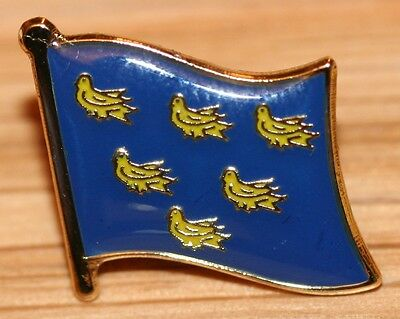 Sussex England County Flag Enamel Pin Badge UK Great Britain