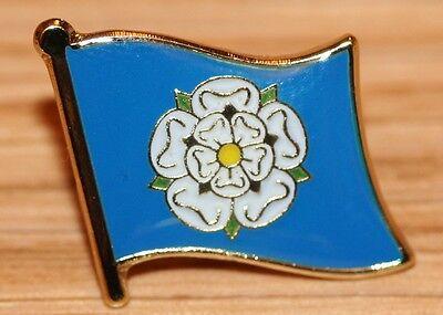 Yorkshire England County Flag Enamel Pin Badge UK Great Britain