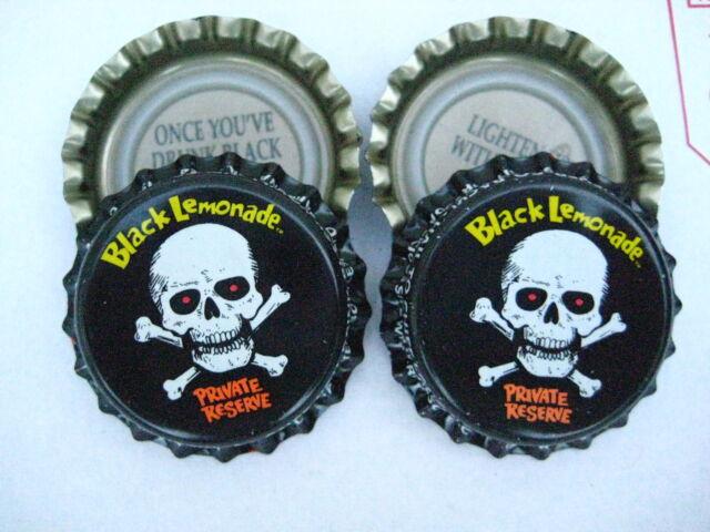 """100 Uncrimped """"Black Lemonade"""" Listing in Soda/Beer Bottle Cap/Crown Category"""