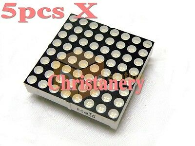 5pcs 8x8 Dot-Matrix LED Light Display 3mm Bicolor Green and Red for Arduiino AVR