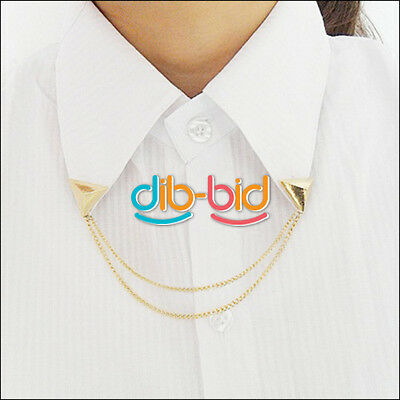 Fashion Unisex Spike Stud Blouse Shirts Collar Neck Tip Brooch Pin 05 SS