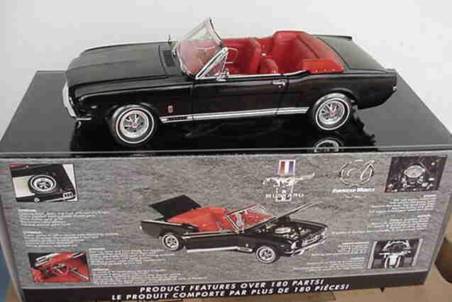 1965 FORD MUSTANG GT noir 1 18 ertl american muscle 33766