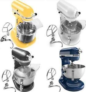 New-KitchenAid-Pro-600-Stand-Mixer-KP26m1xq-6-Qt-White-Pearl-Metalic-Yellow-Blue