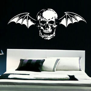 LARGE-AVENGE-SEVENFOLD-DEATH-BAT-BEDROOM-WALL-MURAL-TRANSFER-VINYL-DECAL