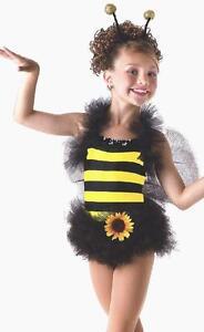 Last-One-Bee-Tutu-Dance-Dress-Ballet-Costume-w-Antenna-Wings-Adult-Medium