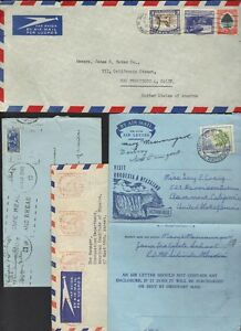 SOUTH AFRICA-RHODESIA 1940-50s COLL. OF 8 COMMERCIAL COVERS 1 AIR LETR & 1 METER