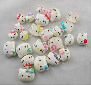 50pcs-Flatback-Resin-Hello-Kitty-Mixed-Color-amp-Size-For-Nail-art-Scrapbooking