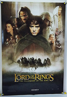THE LORD OF THE RINGS THE FELLOWSHIP OF THE RING DS ROLLED ADV ORIG 1SH (2001)
