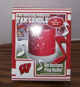 WISCONSIN-BADGER-MUSICAL-FAN-CANDLE-NEW-IN-BOX-GREAT