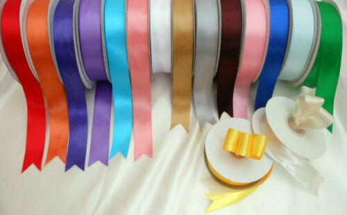 Double sided satin ribbon 25mm wide x 3 or  5 metres   Choose colour