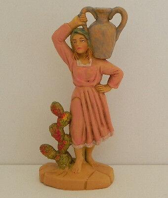 "Pellegrini 3.5"" Nativity Village Woman Figurine Manger Creche Presepio Pesebre"