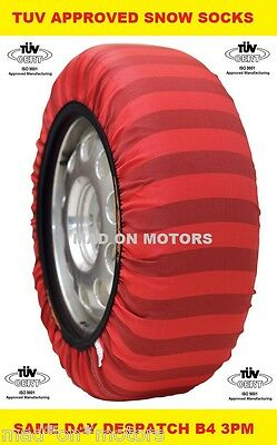 ISSE EU TUV APPROVED WINTER SNOW & ICE SOCKS CHAINS ALLOY WHEELS ALL TYRE SIZES