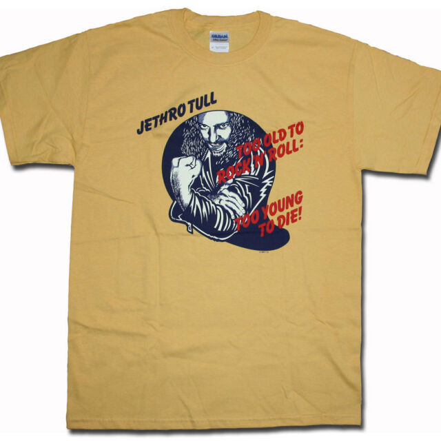 Jethro Tull T Shirt - Too Old To Rock & Roll 100% Official US Import Prog Rock!