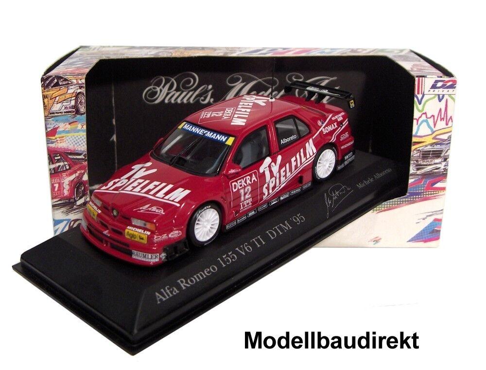 Alfa Romeo 155 V6 TI DTM DTM DTM 1995 M. Alboreto 1 43 Minichamps 430950312 NEU & OVP f13aaa