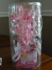 New disney princess pink chandelier lamp ebay new disney princess pink chandelier lamp mozeypictures Gallery