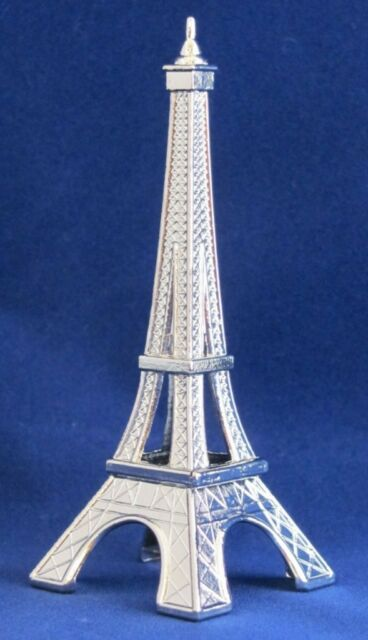 Mini EIFFEL TOWER Decor SILVER FIGURINE Accent PARIS FRENCH THEME Metal Statue