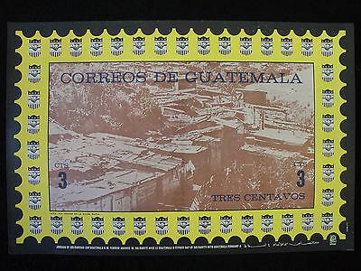OSPAAAL ORIGNAL VINTAGE Political Military Poster GUATEMALA slum Art 1972