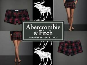 Abercrombie-Fitch-A-F-by-Hollister-Red-Navy-Plaid-SONIA-Wool-Dress-Shorts-6