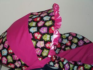 PINK-BABY-OWL-Baby-Infant-Car-Seat-Cover-Graco-MOD-OWL