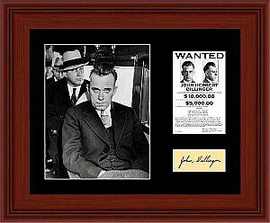 John-Dillinger-Matted-Photo-Display-11X14-Wanted-Poster