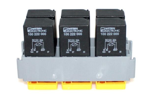 MTA Modul Relaismodul f. 6 Microrelais Relaishalter KFZ Relais Box Halter 12